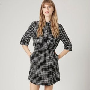 Topshop mini Gridprint shirt dress pocket 6 medium